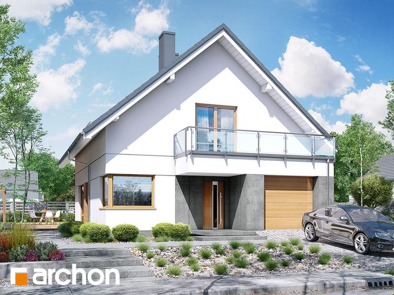 Проект дома ARCHON+ Дом под хикорой 3 Вид 1