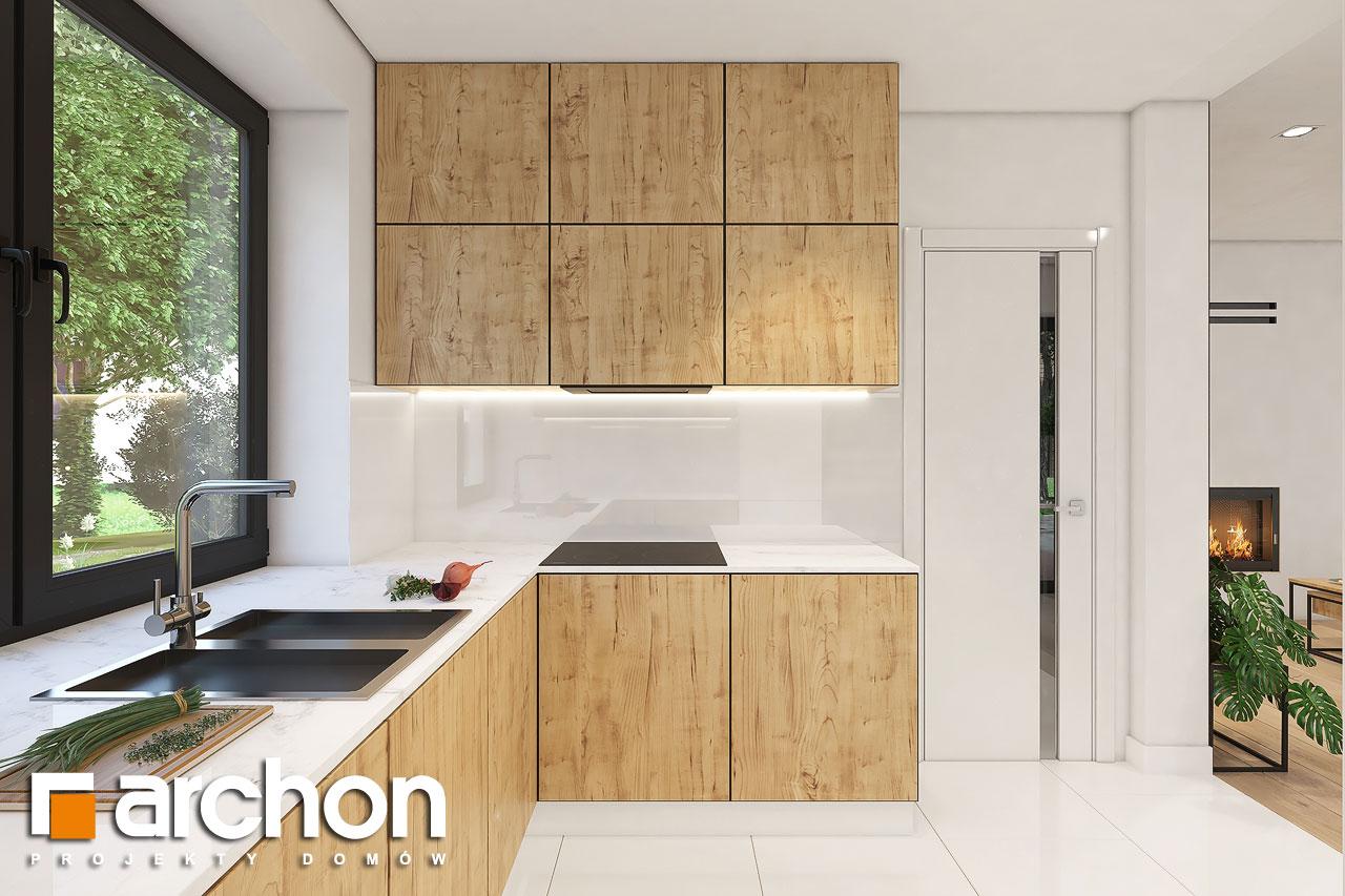 Проект будинку ARCHON+ Будинок в малинівці 11 вер. 2 візуалізація кухні 1 від 3