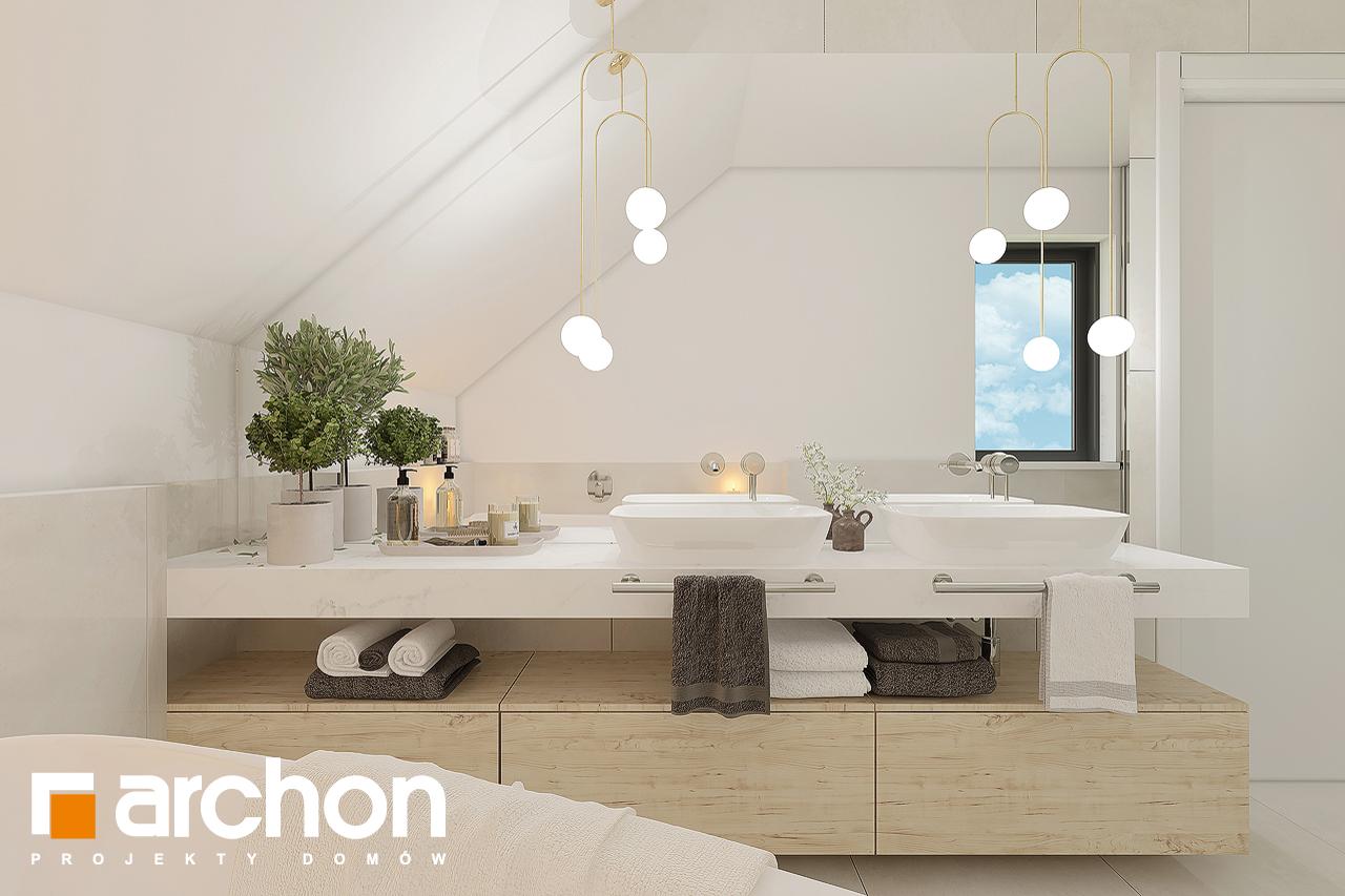 Проект будинку ARCHON+ Будинок в малинівці 11 вер. 2 візуалізація ванни (візуалізація 3 від 4)