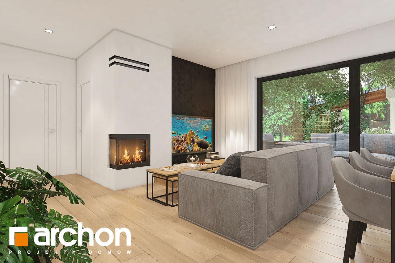 Проект будинку ARCHON+ Будинок в малинівці 11 вер. 2 денна зона (візуалізація 1 від 2)