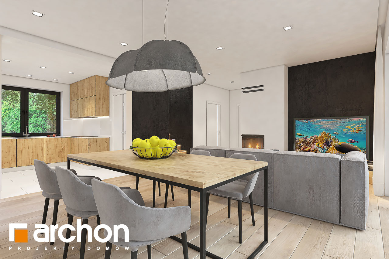 Проект будинку ARCHON+ Будинок в малинівці 11 вер. 2 денна зона (візуалізація 1 від 3)