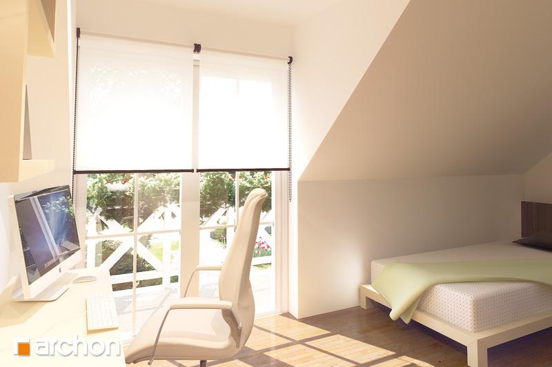 Проект будинку ARCHON+ Будинок в рододендронах 6 (Г2П) вер.2 нічна зона (візуалізація 1 від 2)