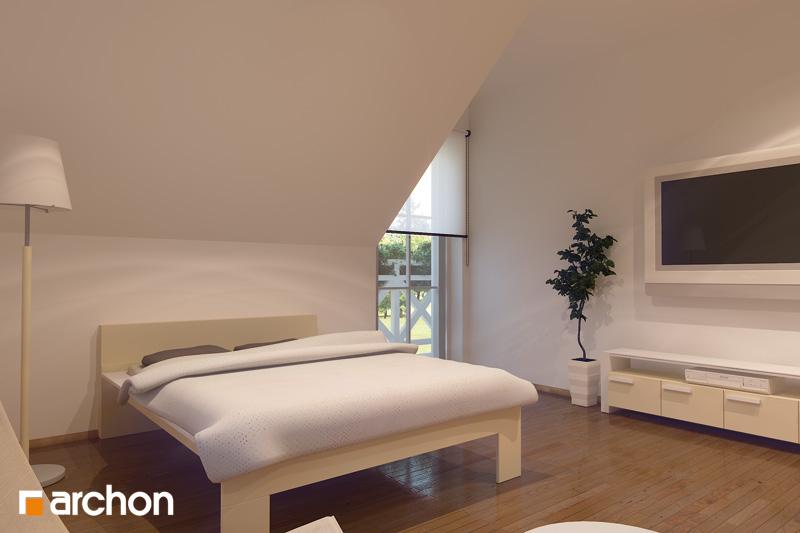 Проект будинку ARCHON+ Будинок в рододендронах 6 (Г2П) вер.2 нічна зона (візуалізація 1 від 1)