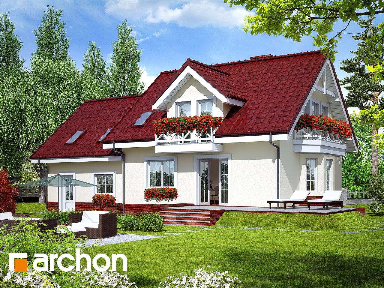 Проект будинку ARCHON+ Будинок в рододендронах 6 (Г2П) вер.2 Вид 2