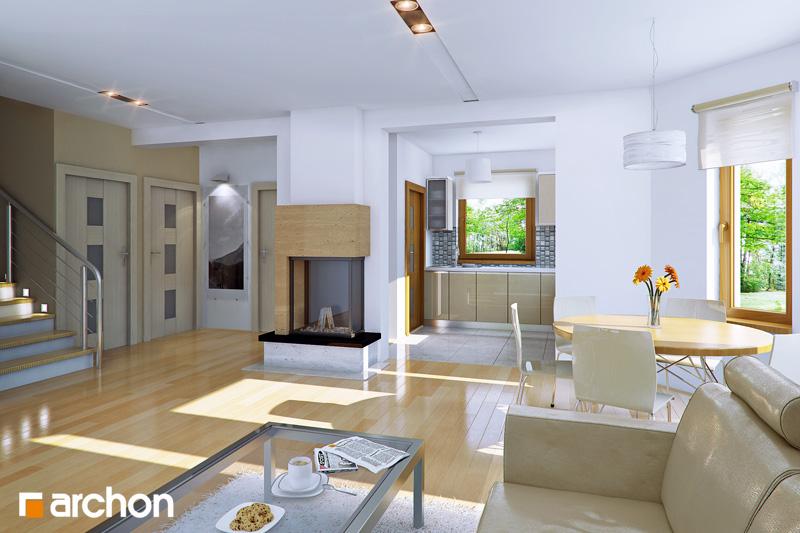 Проект будинку ARCHON+ Будинок в рододендронах 6 (Г2П) вер.2 денна зона (візуалізація 1 від 1)