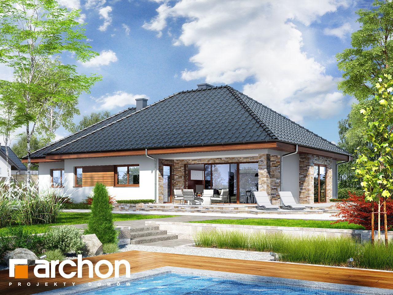 Проект будинку ARCHON+ Будинок в ламбертах Вид 2