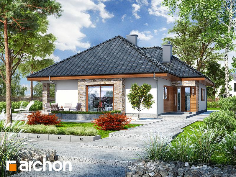 Проект будинку ARCHON+ Будинок в ламбертах Вид 1