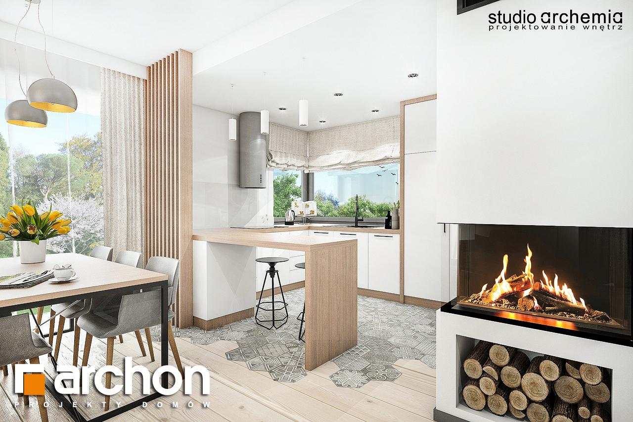 Проект дома ARCHON+ Вилла Констанция визуализация кухни 1 вид 1