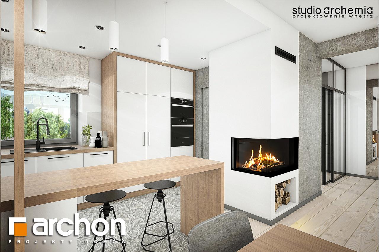 Проект дома ARCHON+ Вилла Констанция визуализация кухни 1 вид 2