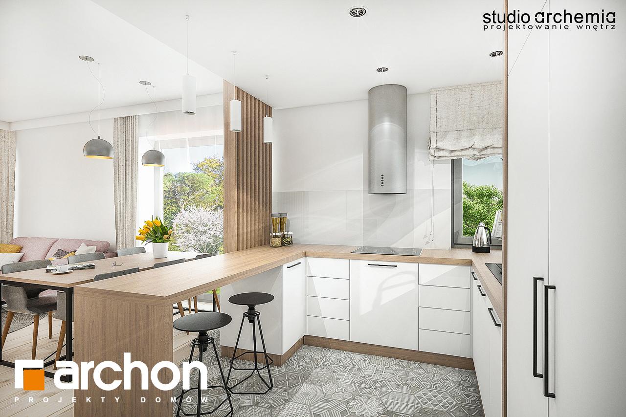 Проект дома ARCHON+ Вилла Констанция визуализация кухни 1 вид 3