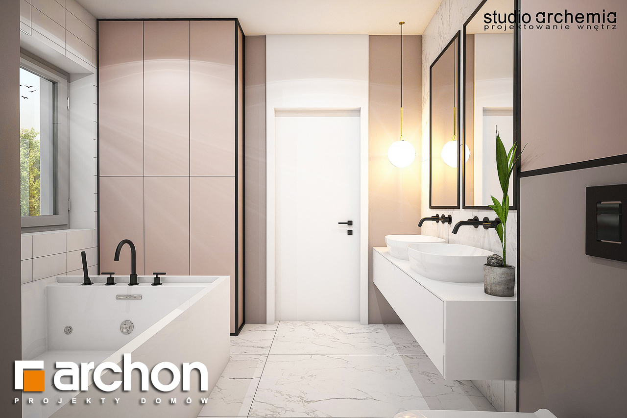 Проект дома ARCHON+ Вилла Констанция визуализация ванной (визуализация 3 вид 2)