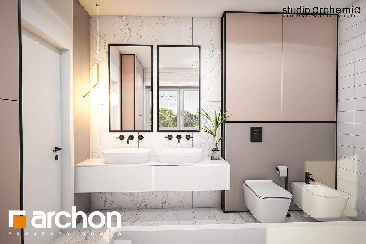 Проект будинку ARCHON+ Вілла Констанція візуалізація ванни (візуалізація 3 від 3)
