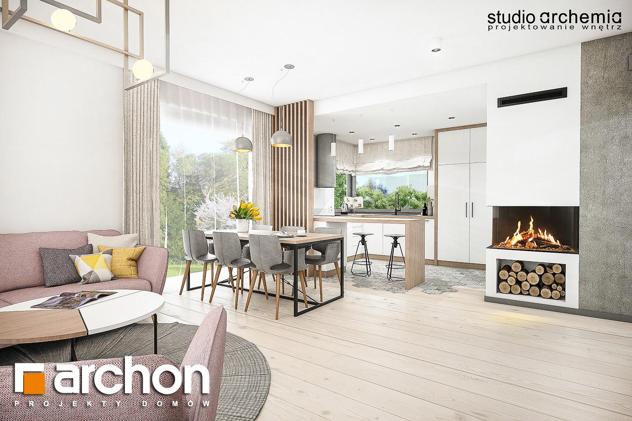 Проект дома ARCHON+ Вилла Констанция дневная зона (визуализация 1 вид 3)