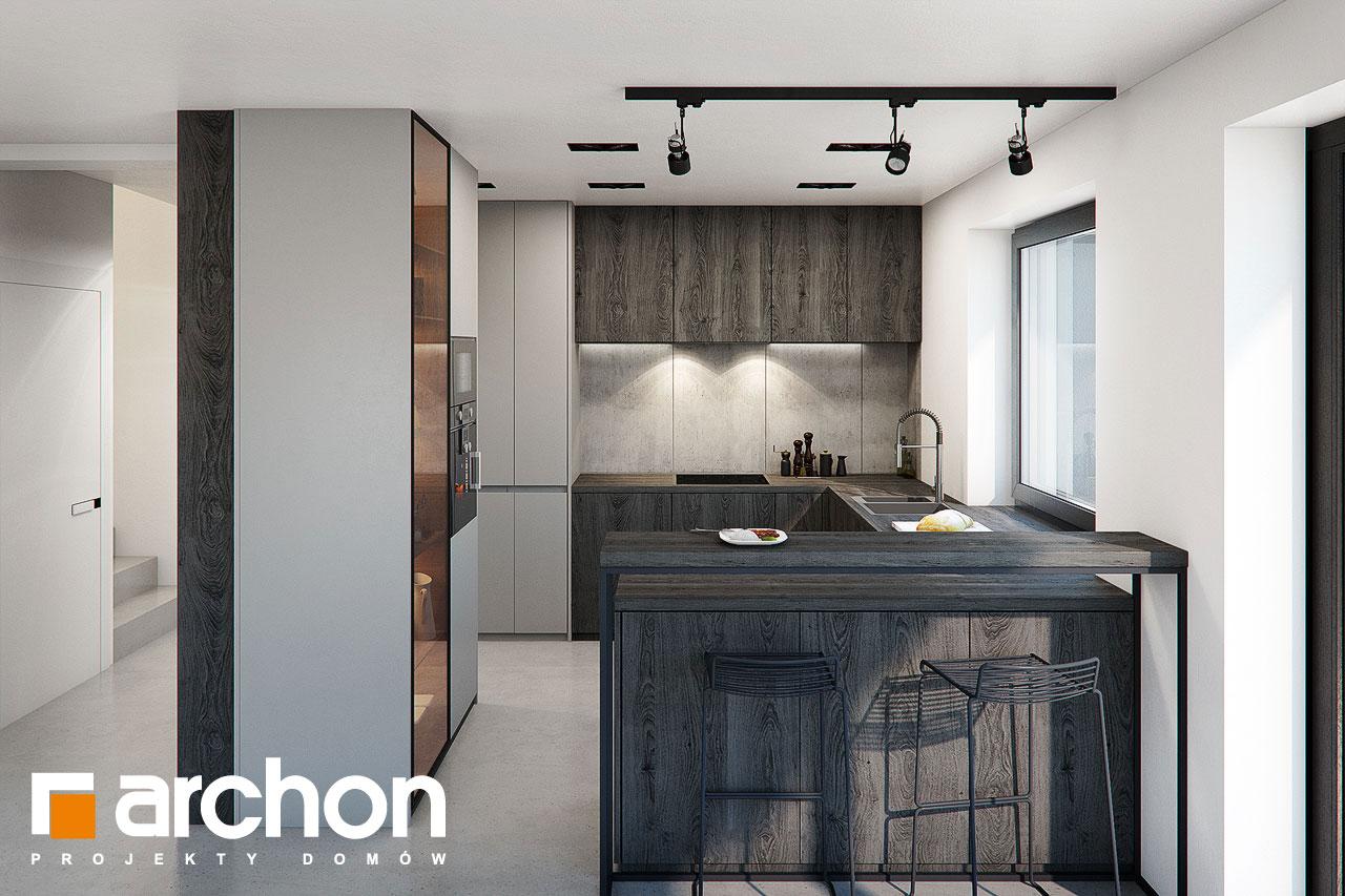 Проект дома ARCHON+ Дом в стоколосе (Г2) визуализация кухни 1 вид 1