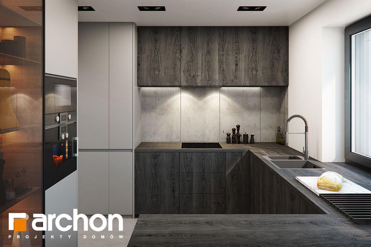 Проект дома ARCHON+ Дом в стоколосе (Г2) визуализация кухни 1 вид 2