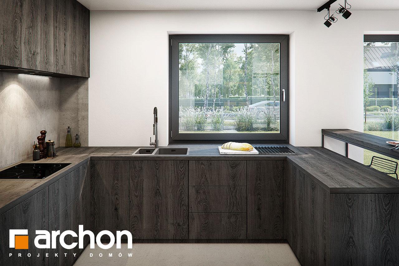 Проект дома ARCHON+ Дом в стоколосе (Г2) визуализация кухни 1 вид 3