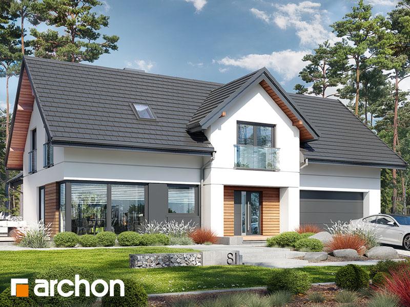 Проект дома ARCHON+ Дом в стоколосе (Г2) Вид 1