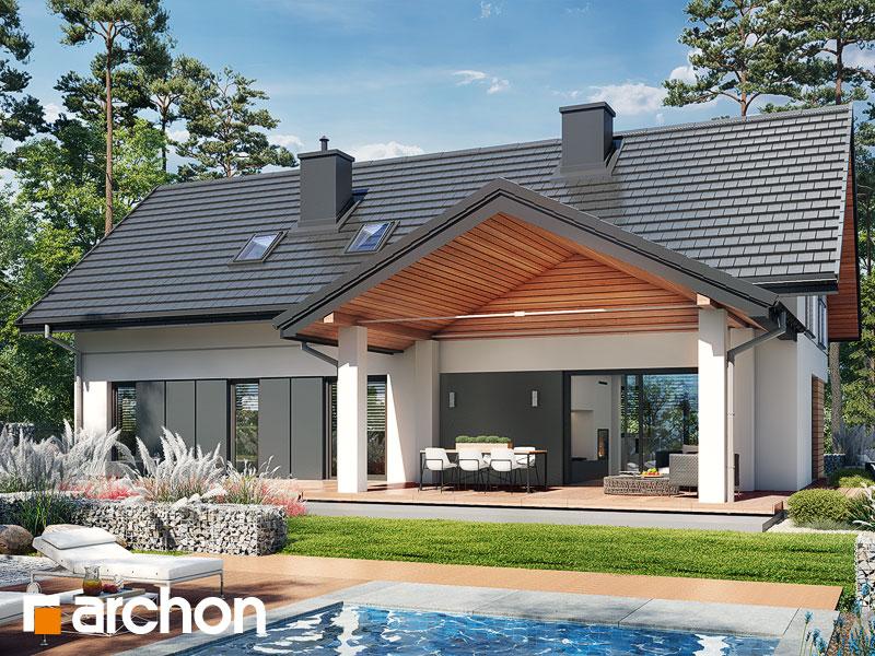 Проект дома ARCHON+ Дом в стоколосе (Г2) Вид 2