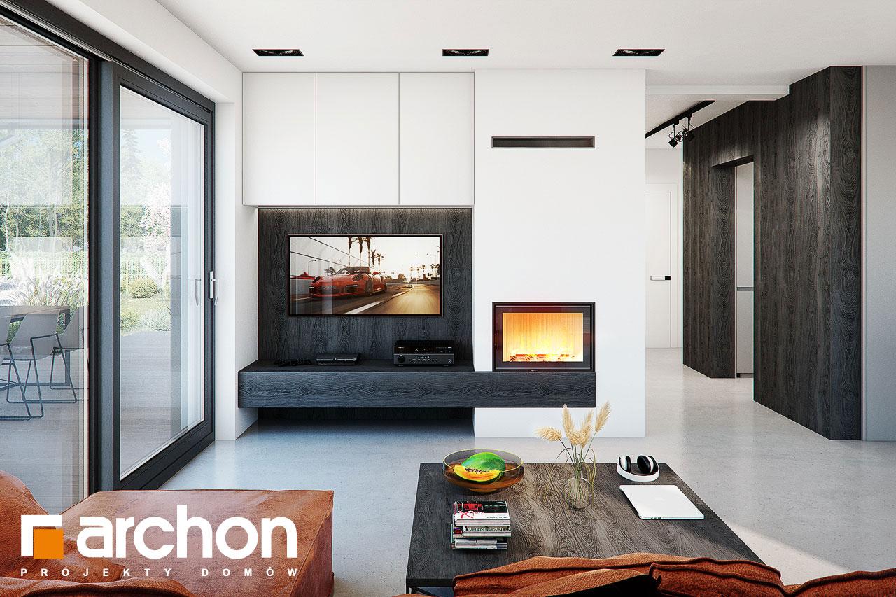 Проект дома ARCHON+ Дом в стоколосе (Г2) дневная зона (визуализация 1 вид 1)