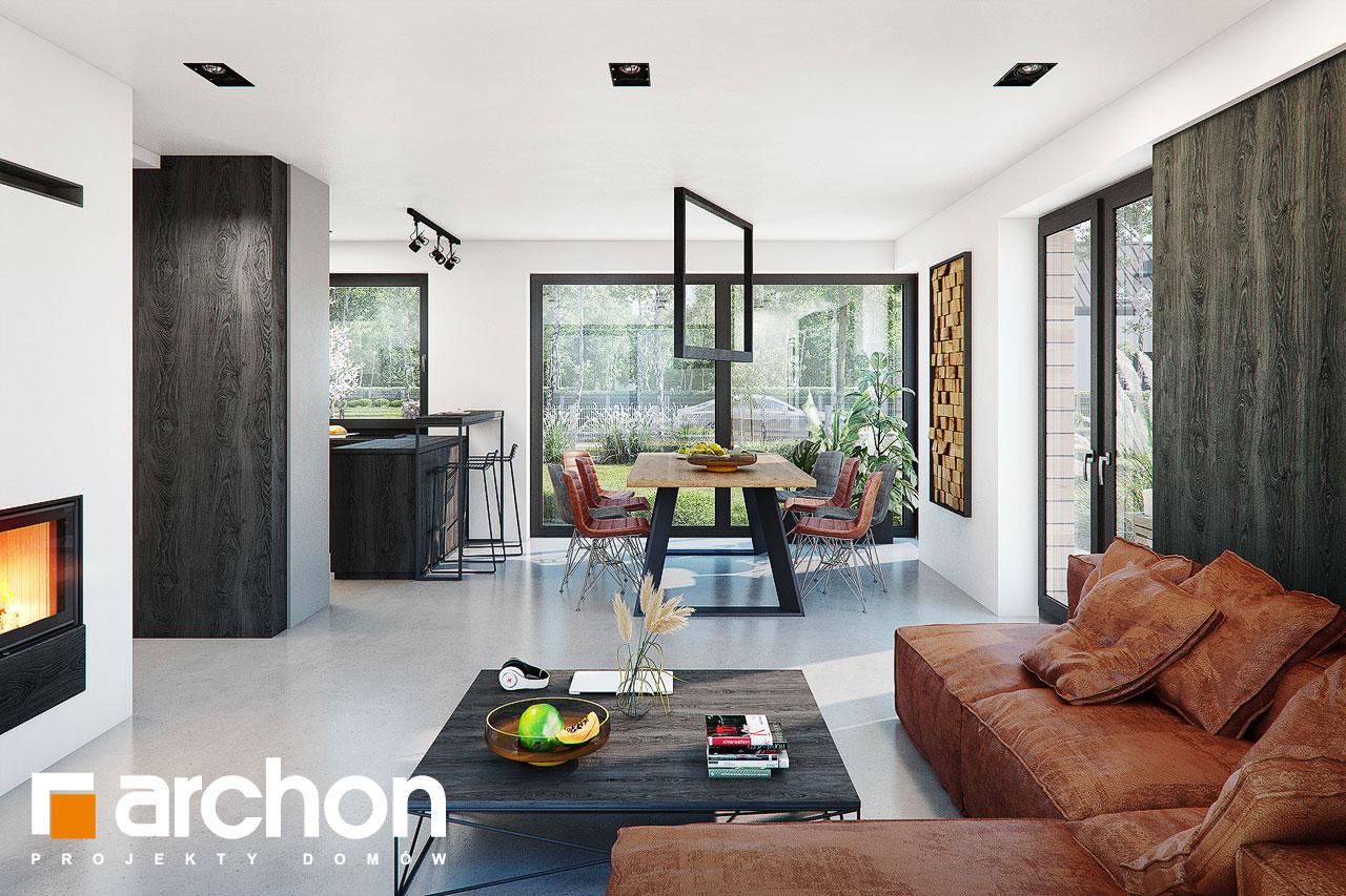 Проект дома ARCHON+ Дом в стоколосе (Г2) дневная зона (визуализация 1 вид 2)