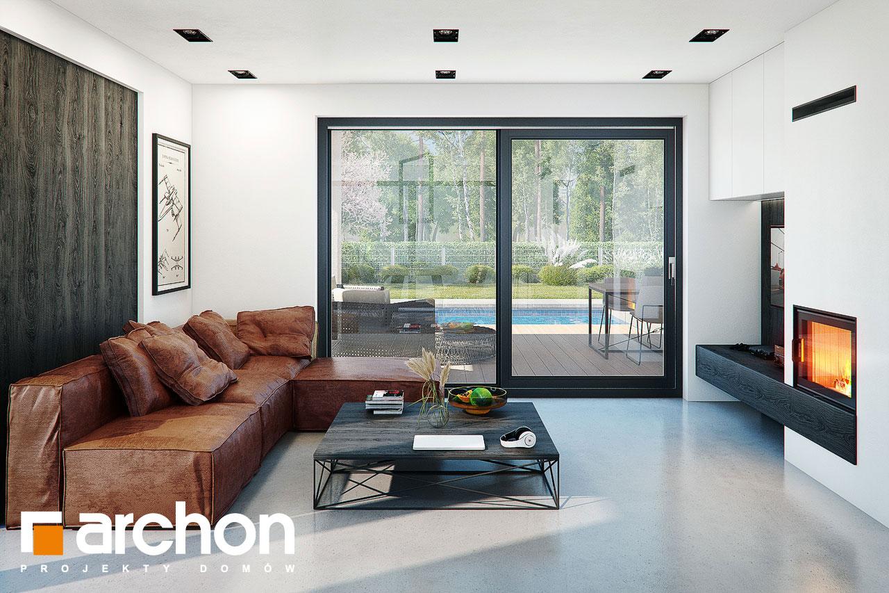 Проект дома ARCHON+ Дом в стоколосе (Г2) дневная зона (визуализация 1 вид 4)