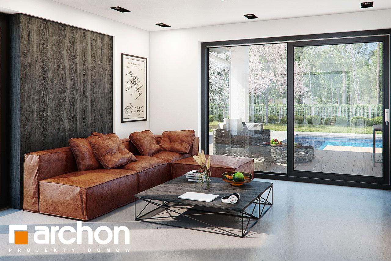 Проект дома ARCHON+ Дом в стоколосе (Г2) дневная зона (визуализация 1 вид 5)