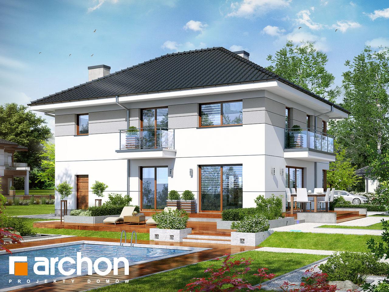 Проект дома ARCHON+ Вилла Эмма стилизация 4