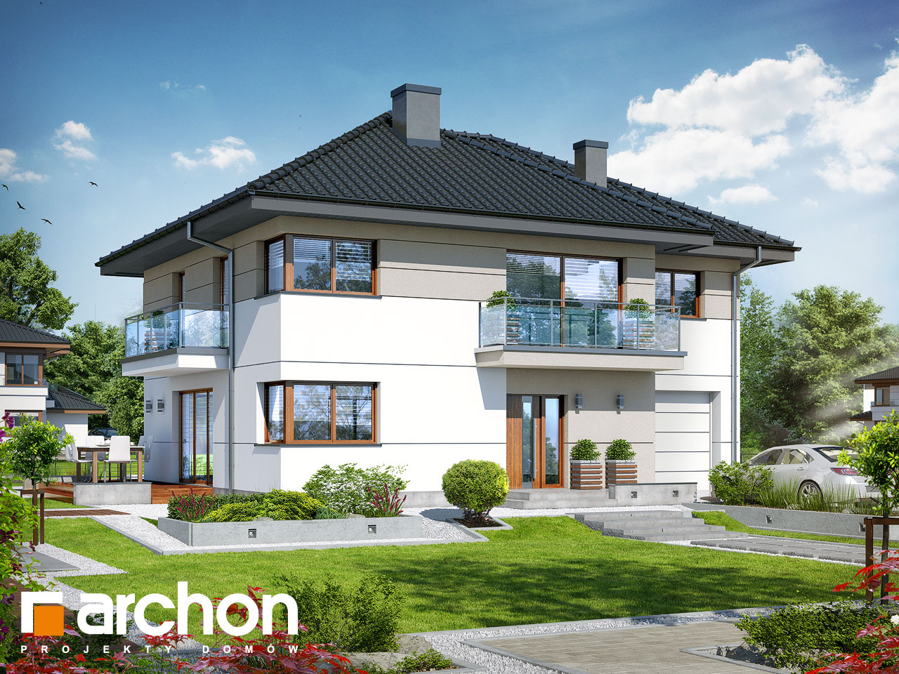 Проект будинку ARCHON+ Вілла Емма стилізація 3