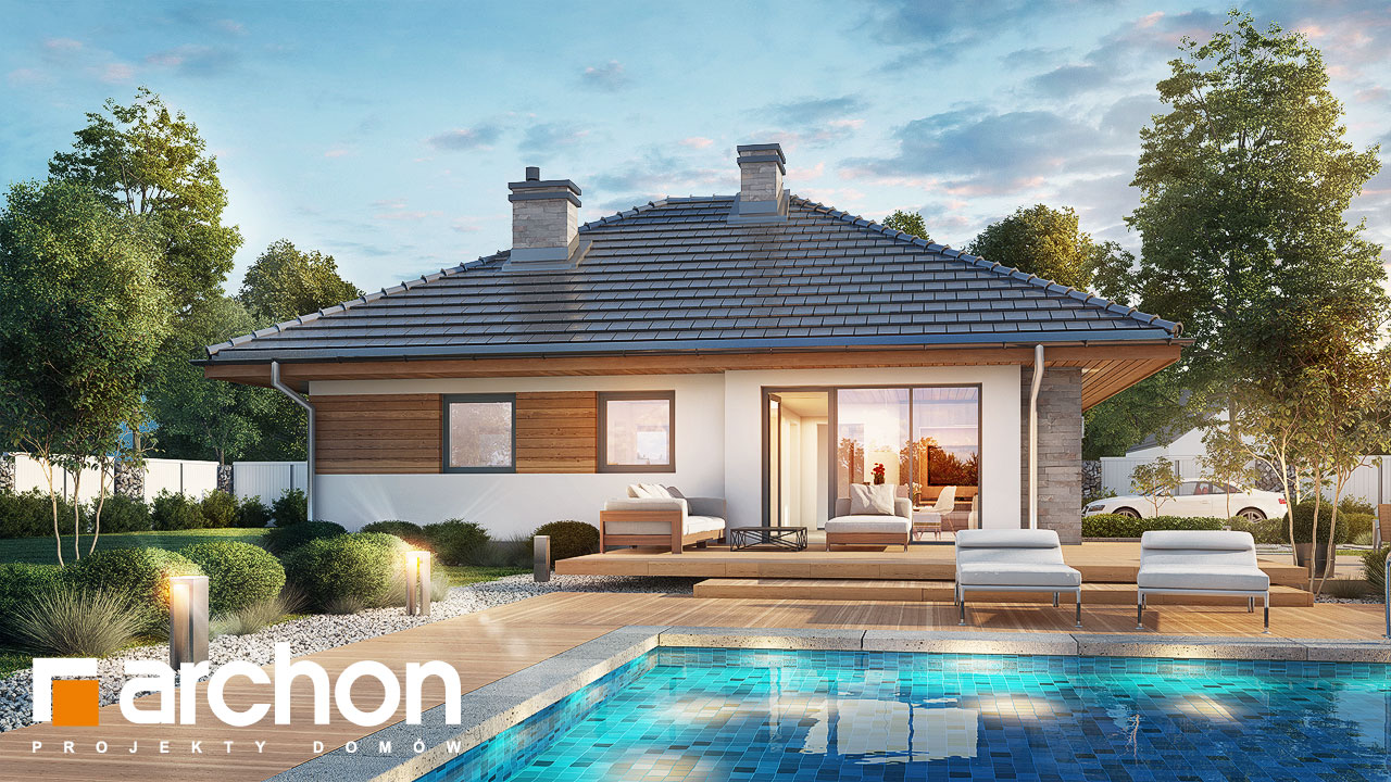 Проект будинку ARCHON+ Будинок у бузку додаткова візуалізація
