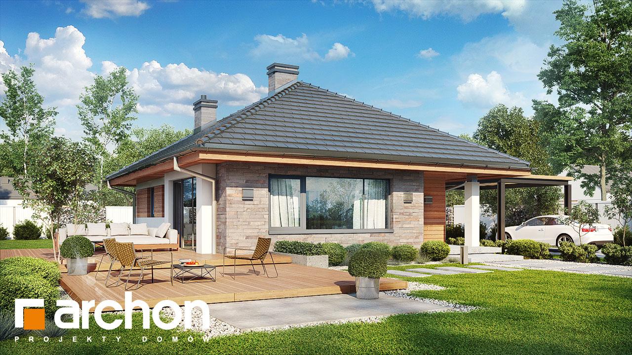 Проект будинку ARCHON+ Будинок у бузку (СМ) Вид 2
