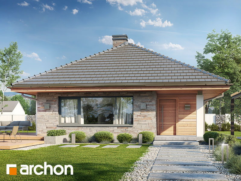 Проект будинку ARCHON+ Будинок у бузку Вид 1