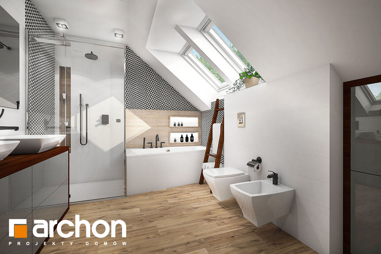 Проект будинку ARCHON+ Будинок в аурорах (Г2) візуалізація ванни (візуалізація 3 від 1)