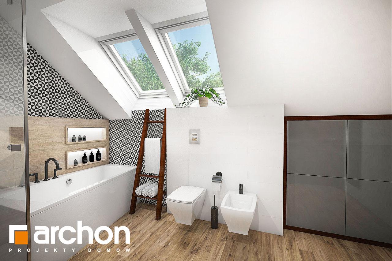 Проект будинку ARCHON+ Будинок в аурорах (Г2) візуалізація ванни (візуалізація 3 від 2)