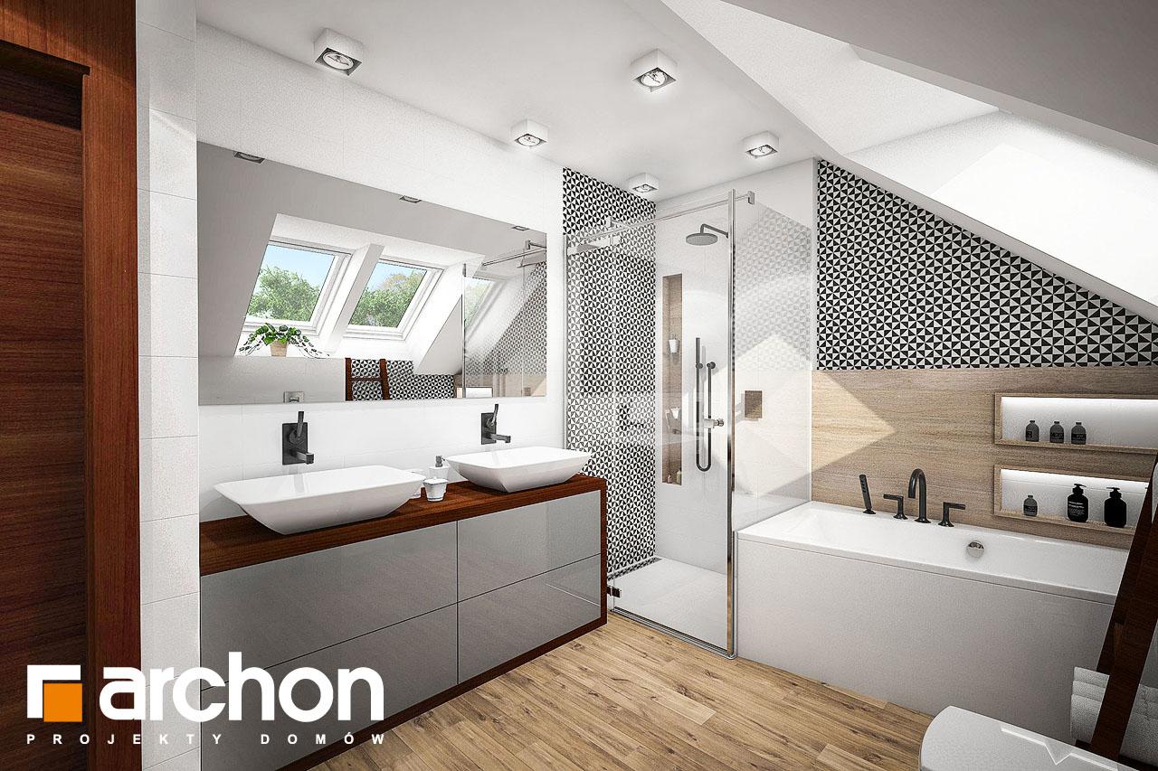 Проект будинку ARCHON+ Будинок в аурорах (Г2) візуалізація ванни (візуалізація 3 від 3)