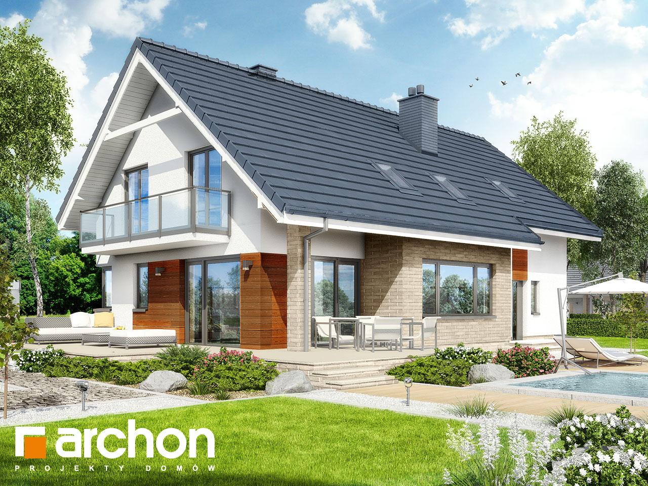 Проект будинку ARCHON+ Будинок в аурорах (Г2) Вид 2