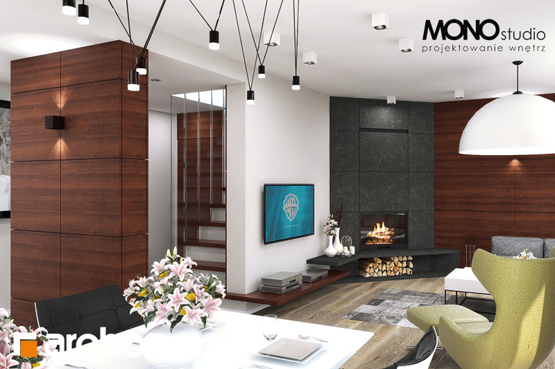 Проект будинку ARCHON+ Будинок в аурорах (Г2) денна зона (візуалізація 2 від 3)