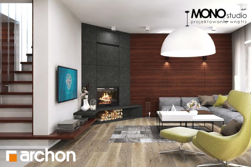 Проект будинку ARCHON+ Будинок в аурорах (Г2) денна зона (візуалізація 2 від 4)