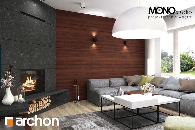 Проект будинку ARCHON+ Будинок в аурорах (Г2) денна зона (візуалізація 2 від 5)