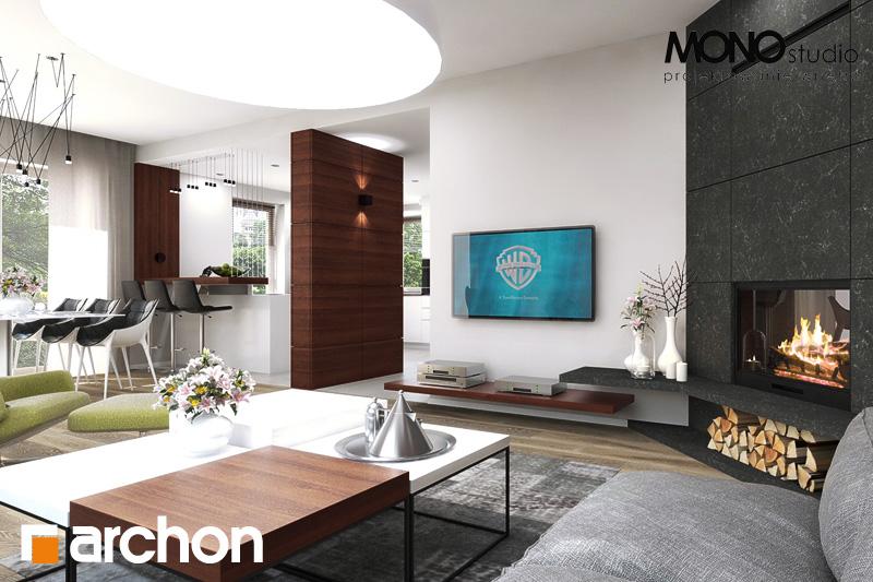Проект будинку ARCHON+ Будинок в аурорах (Г2) денна зона (візуалізація 2 від 8)