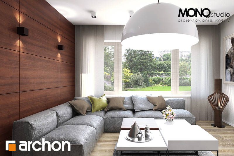 Проект будинку ARCHON+ Будинок в аурорах (Г2) денна зона (візуалізація 2 від 14)