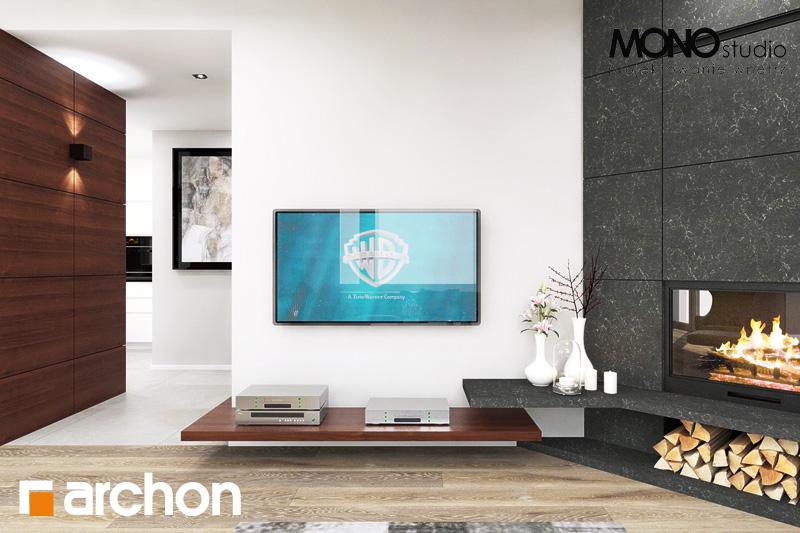 Проект будинку ARCHON+ Будинок в аурорах (Г2) денна зона (візуалізація 2 від 11)