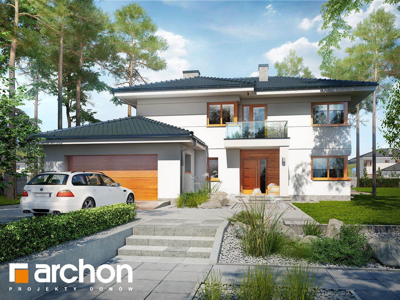 Проект будинку ARCHON+ Вілла Олівія 3 (Г2П) Вид 2