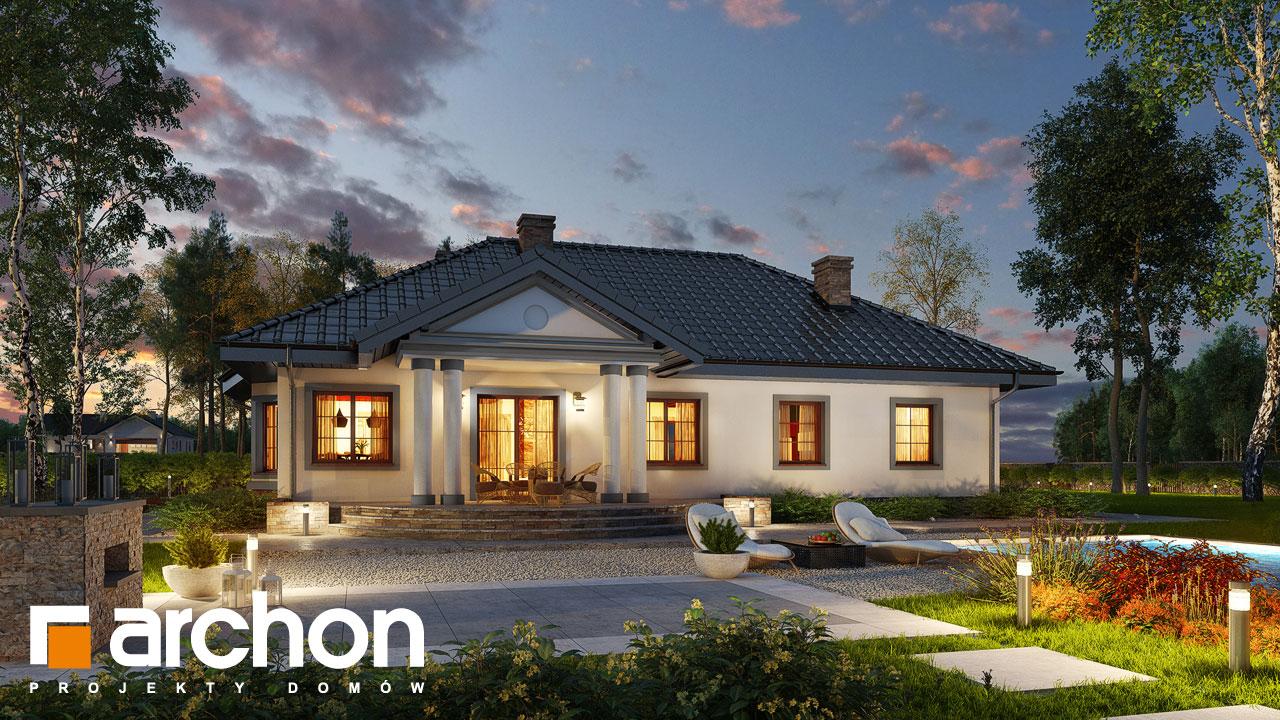 Проект будинку ARCHON+ Будинок в гаурах 5 Вид 2