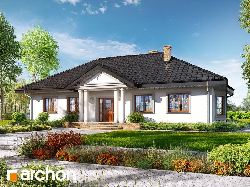 Проект будинку ARCHON+ Будинок в гаурах 5 Вид 1