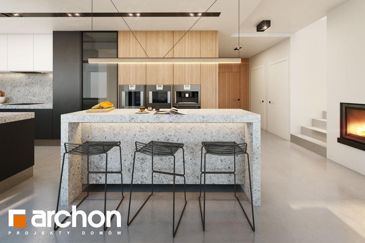 Проект будинку ARCHON+ Будинок в аметистах (Г2) візуалізація кухні 1 від 2