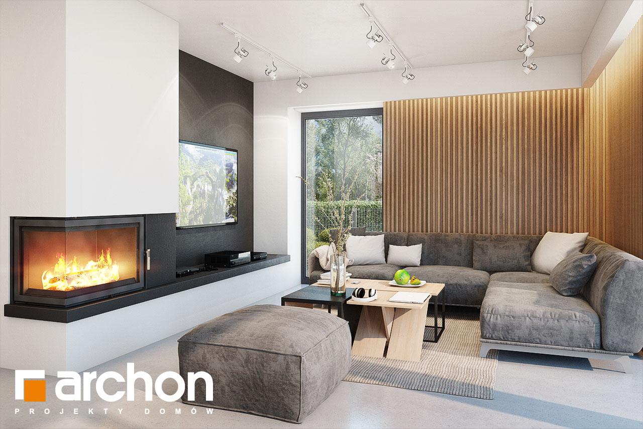 Проект будинку ARCHON+ Будинок в аметистах (Г2) денна зона (візуалізація 1 від 2)