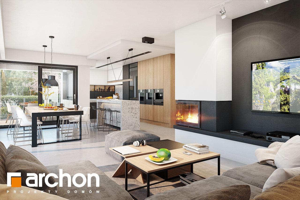Проект будинку ARCHON+ Будинок в аметистах (Г2) денна зона (візуалізація 1 від 4)