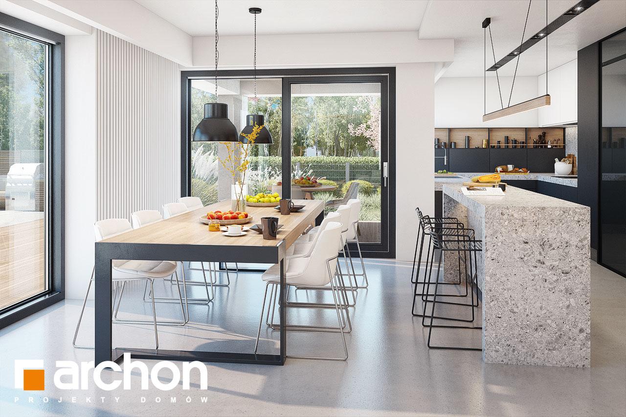 Проект будинку ARCHON+ Будинок в аметистах (Г2) денна зона (візуалізація 1 від 6)