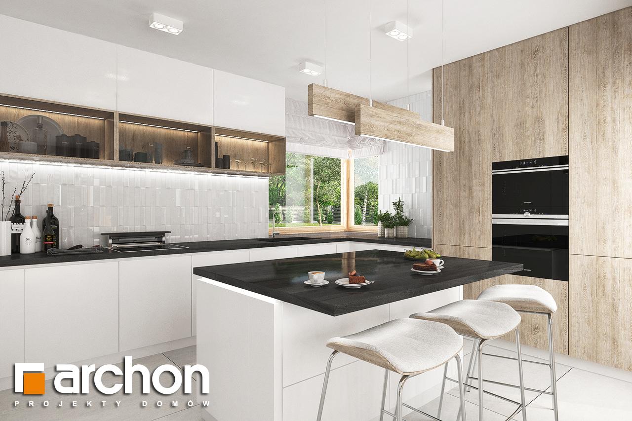 Проект будинку ARCHON+ Будинок в лосанах  візуалізація кухні 1 від 1