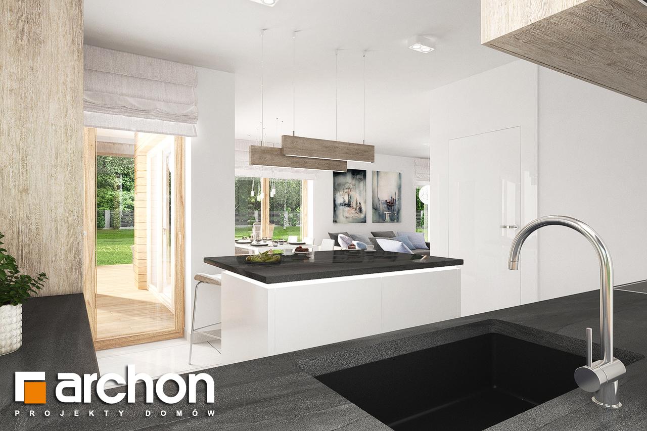 Проект будинку ARCHON+ Будинок в лосанах  візуалізація кухні 1 від 3
